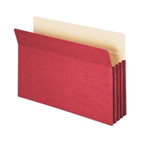 "Smead File Pocket Straight-Cut Tab 3-1/2"" Exp Legal Red (74231)"