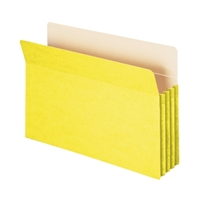 "Smead File Pocket Straight-Cut Tab 3-1/2"" Exp Legal Yellow (74233)"