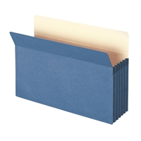 "Smead File Pocket Straight-Cut Tab 5-1/4"" Exp Legal Blue (74235)"
