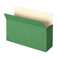 "Smead File Pocket Straight-Cut Tab 5-1/4"" Exp Legal Green (74236)"