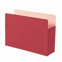 "Smead File Pocket Straight-Cut Tab 5-1/4"" Exp Legal  Red (74241)"