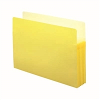 "Smead File Pocket Straight-Cut Tab 5-1/4"" Exp Legal Yellow (74243)"