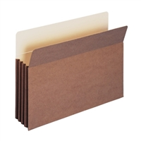 "Smead TUFF Pocket File Pocket 3-1/2"" Exp Legal Redrope (74380)"