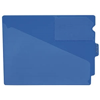 Poly Out Guides, Center Tab, Letter Size, Blue, 10/Bx