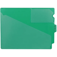 Poly Out Guides, Center Tab, Letter Size, Green, 10/Bx