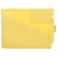 Poly Out Guides, Center Tab, Letter Size, Yellow, 10/Bx