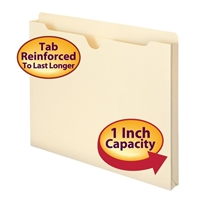 "Smead File Jacket, Reinforced Straight-Cut Tab, 1"" Exp, Letter (75520)"