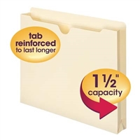 "Smead File Jacket, Reinforced Straight-Cut Tab, 1-1/2"" Exp, (75540)"