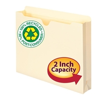 "Smead 100% Recycled File Jacket, 2"" Expansion, Letter, Manila, (75605)"