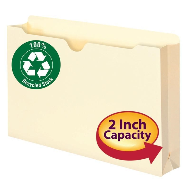 Universal Manila File Jackets with Reinforced Tabs Flat Letter 100//Box 73300