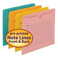 Smead Notes File Jacket, Letter Size, Assorted Colors, 12/Pack (75616)