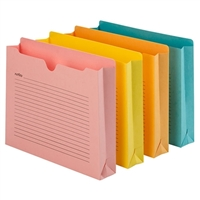 "Smead Notes File Jacket, Letter Size, 2"" Exp, Assorted Colors (75964)"