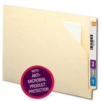 Smead End Tab File Jacket with Antimicrobial, Flat Exp, Manila 100/Bx (75715)