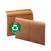 "Smead 100% Recycled Redrope Wallet, 2"" Exp, Legal, Box of 10 (77171)"