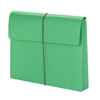 "Smead Green Expanding Wallets with Elastic Cord, 2"" Expansion (77204)"