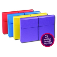 Smead Colored Expanding Wallets with Antimicrobial Protection (77300)