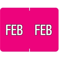 Datafile Month Label February 15/16 x 1-5/8 256/Pack