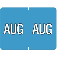 Datafile Month Label August 15/16 x 1-5/8 256/Pack