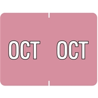 Datafile Month Label October 15/16 x 1-5/8 256/Pack
