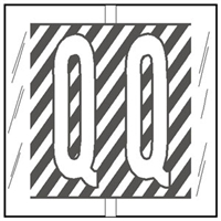 Col R Tab 12117 Label Letter Q 100/Pack