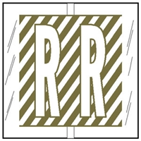 Col R Tab 12118 Label Letter R 100/Pack