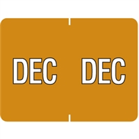 Datafile Month Label December 15/16 x 1-5/8 256/Pack
