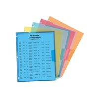 Smead Poly Translucent File Jacket Three-Hole Punched 5-pack (85705)