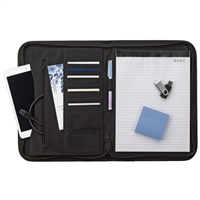 Smead Padfolio, Zipper Closure, Letter Size, Black (85845)
