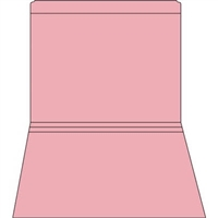 Colored File Folders, Letter Size, 2-Ply, Straight-Cut, 11pt Pink, 100/Bx