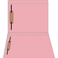 Colored Fastener Folders 85C00RF13, Letter Size, Straight-Cut Reinforced, Fasteners Pos 1/3, 11pt Pink, 50/Box