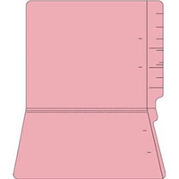 "Colored File Folders, End Tab, Letter Size, 3/4"" Exp, No Fasteners, 11pt Pink, 100/Box"