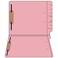 "Colored Folders, End Tab, Letter Size, 3/4"" Exp, Fastener Pos 1/3, 11pt Pink, 50/Box"