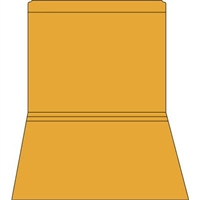 Colored File Folders, Letter Size, 2-Ply, Straight-Cut, 11pt Orange, 100/Bx