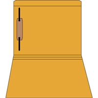 Colored Fastener Folders 85C01RF1, Letter Size, Straight-Cut Reinforced, Fastener Pos 1, 11pt Orange, 50/Box