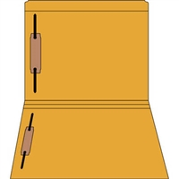 Colored Fastener Folders 85C01RF13, Letter Size, Straight-Cut Reinforced, Fasteners Pos 1/3, 11pt Orange, 50/Box