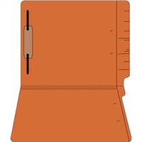 "Colored Folders, End Tab, Letter Size, 3/4"" Exp, Fastener Pos 1, 11pt Orange, 50/Box"