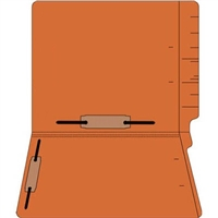 "Colored Folders, End Tab, Letter Size, 3/4"" Exp, Fastener Pos 3/5, 11pt Orange, 50/Box"
