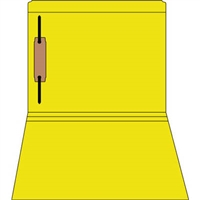 Colored Fastener Folders 85C02RF1, Letter Size, Straight-Cut Reinforced, Fastener Pos 1, 11pt Yellow, 50/Box