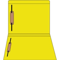 Colored Fastener Folders 85C02RF13, Letter Size, Straight-Cut Reinforced, Fasteners Pos 1/3, 11pt Yellow, 50/Box