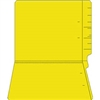 "Colored Folders, End Tab, Letter Size, 3/4"" Exp, No Fasteners, 11pt Yellow, 100/Box"