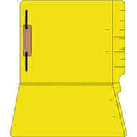 "Colored Folders, End Tab, Letter Size, 3/4"" Exp, Fastener Pos 1, 11pt Yellow, 50/Box"