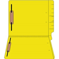 "Colored Folders, End Tab, Letter Size, 3/4"" Exp, Fastener Pos 1/3, 11pt Yellow, 50/Box"