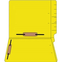 "Colored Folders, End Tab, Letter Size, 3/4"" Exp, Fastener Pos 3/5, 11pt Yellow, 50/Box"