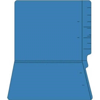 "Colored Folders, End Tab, Letter Size, 3/4"" Exp, No Fasteners, 11pt Dk. Blue, 100/Box"