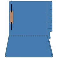 "Colored Folders, End Tab, Letter Size, 3/4"" Exp, Fastener Pos 1, 11pt Dk. Blue, 50/Box"