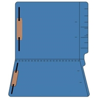 "Colored Folders, End Tab, Letter Size, 3/4"" Exp, Fastener Pos 1/3, 11pt Dk. Blue, 50/Box"
