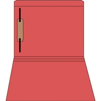 Colored Fastener Folders 85C05RF1, Letter Size, Straight-Cut Reinforced, Fastener Pos 1, 11pt Red, 50/Box