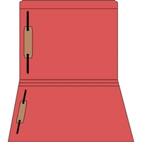 Colored Fastener Folders 85C05RF13, Letter Size, Straight-Cut Reinforced, Fasteners Pos 1/3, 11pt Red, 50/Box