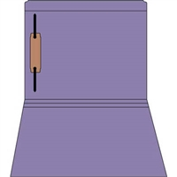Colored Fastener Folders 85C06RF1, Letter Size, Straight-Cut Reinforced, Fastener Pos 1, 11pt Purple, 50/Box