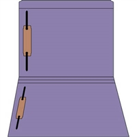 Colored Fastener Folders 85C06RF13, Letter Size, Straight-Cut Reinforced, Fasteners Pos 1/3, 11pt Purple, 50/Box